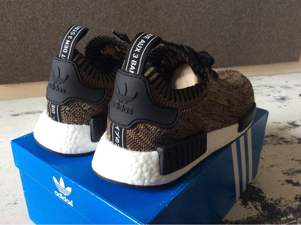 6f4b1a330f158 adidas NMD R1 Primeknit Utility Grey Camo Release Date Sneaker