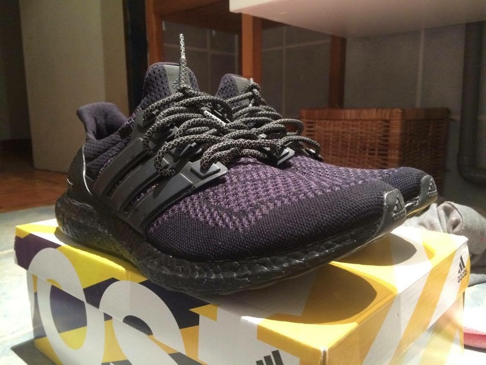 competitive price 87b59 d5ce6 Adidas Ultra Boost Blackout Custom