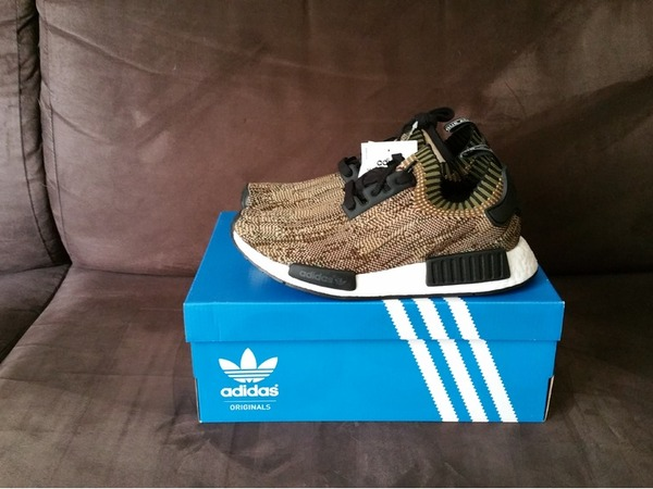 Adidas nmd r1 pk Primeknit camo pack olive - photo 1/3