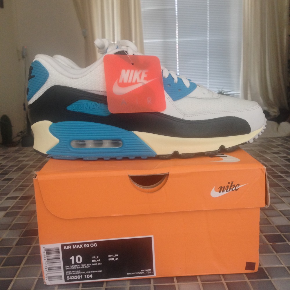 nike air max 90 vintage og laser blue sneakeronline