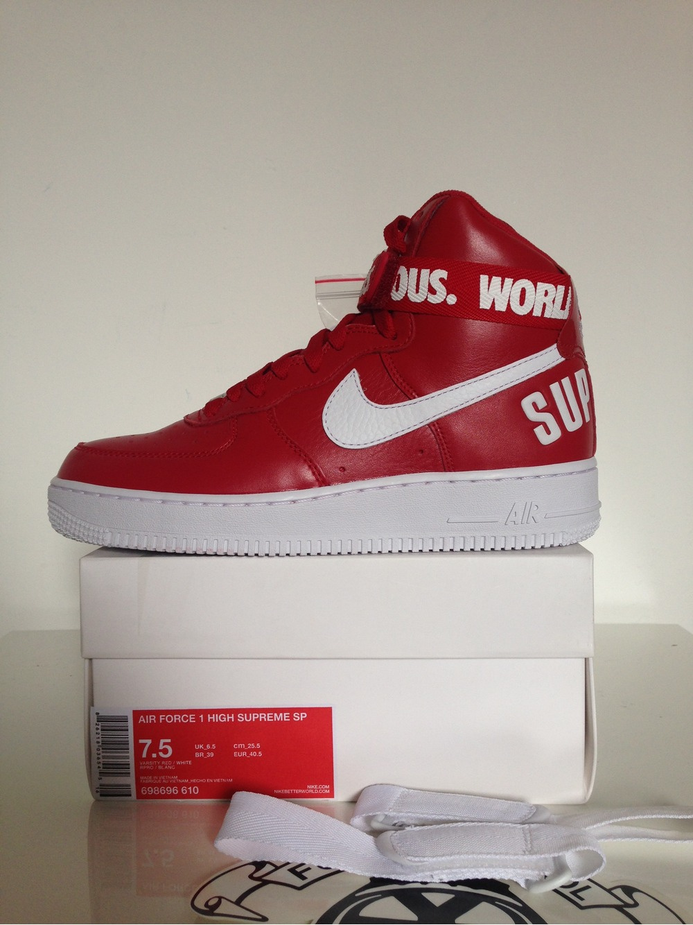 Nike Air Force 1 Stars and Stripes Flag with lace swap 6 18 14