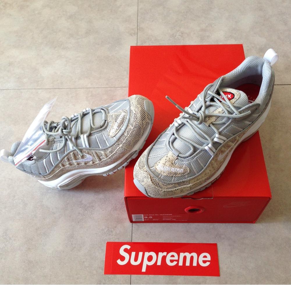 online store 90915 0cac4 supreme x nike air max 98 sail