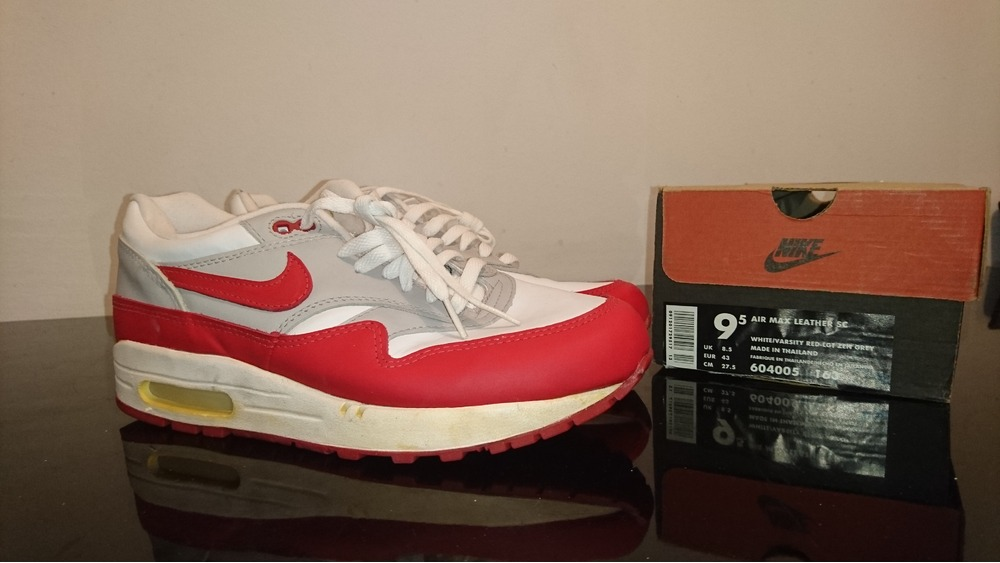 finest selection 7db4f 023fa ... where to buy limited stock clearance nike air max 1 leather red 1997  photo 1 6