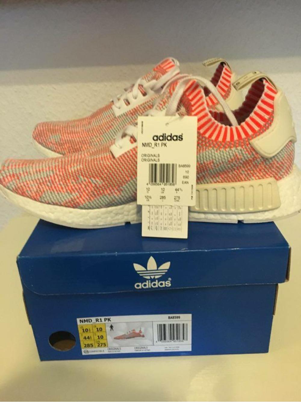 b37f06e5e05f1 adidas nmd Orange 1236142 klekt adidas nmd r1 pk camo pack neon ...