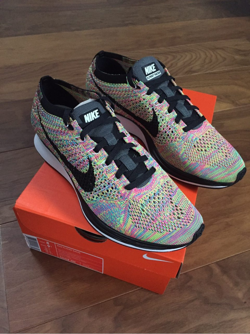 low priced 5e006 3bb8e Nike Flyknit Racer Multicolor 3.0