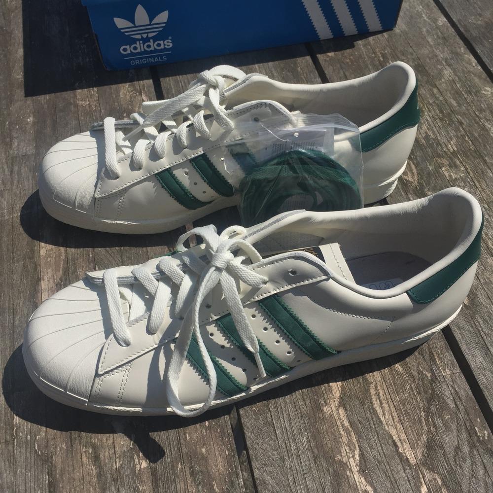 vvhku Adidas Superstar 80\'s Superstar 80\'s DLX White/Green (#381090
