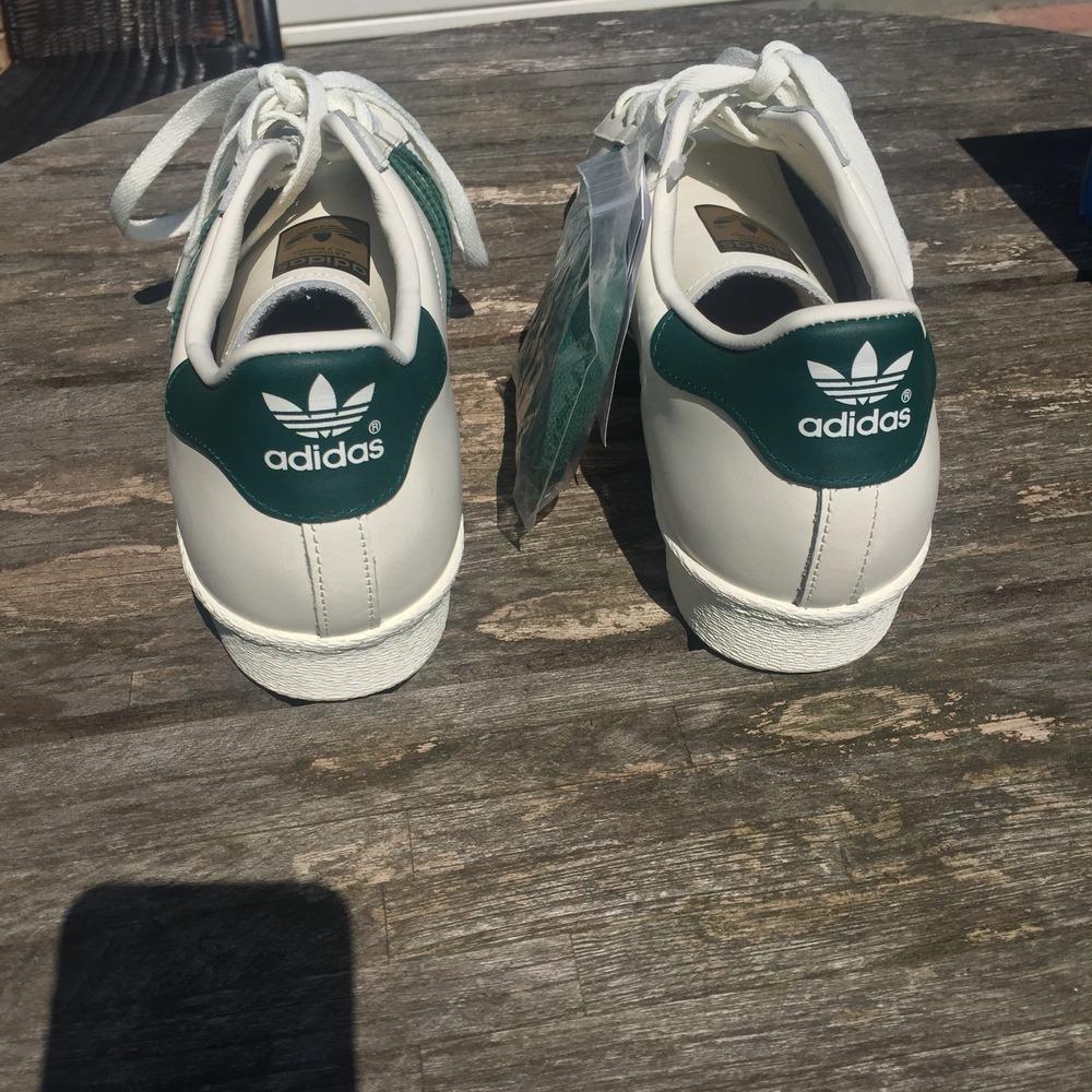 bvujz Adidas Superstar 80\'s Superstar 80\'s DLX White/Green (#381090