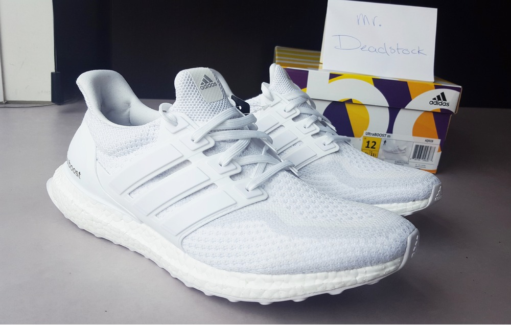 the best attitude c418a 7aac1 ... promo code 2016 adidas ultra boost m aq5929 triple white mens running  eb501 c8aca