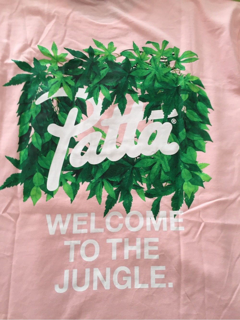 patta t shirt welcome to the jungle xl pink ss collection 2016 388073 from alex at klekt. Black Bedroom Furniture Sets. Home Design Ideas