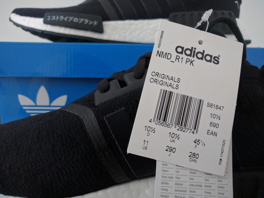 adidas nmd r1 primeknit japan black boost