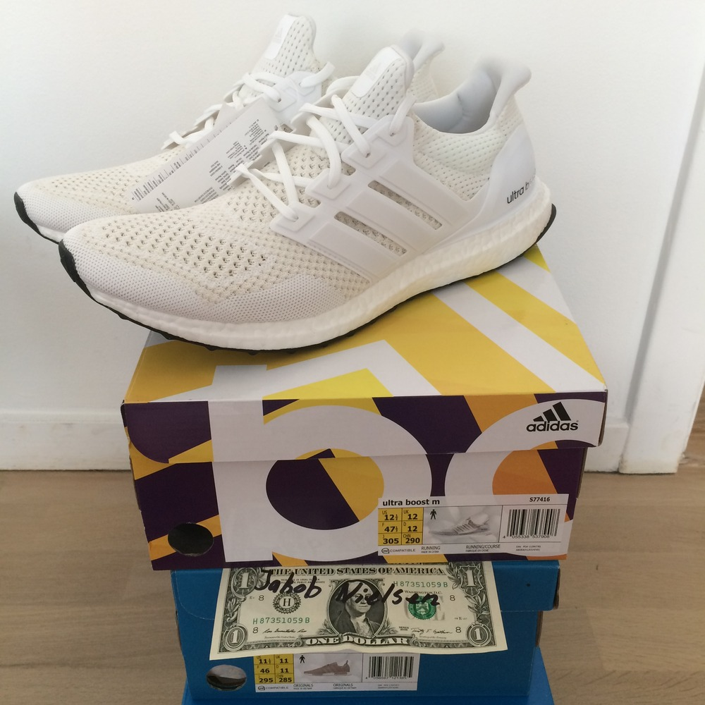 80af79a3fedf3 Adidas Ultra Boost Triple White 1.0 wallbank-lfc.co.uk