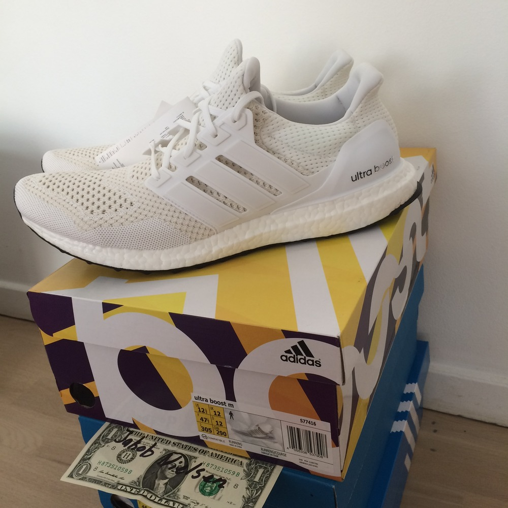 introducing the 39 triple white 39 adidas ultra boost 3 0. Black Bedroom Furniture Sets. Home Design Ideas