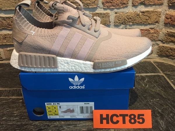 ADIDAS NMD R1 PK VAPOUR GREY Size US 9.5 - 10 PRIMEKNIT F16 BEIGE TAN S81848 - photo 1/9