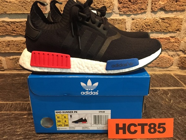 ADIDAS NMD R1 PK OG CORE BLACK US6.5 EUR39.5 UK6 PRIMEKNIT LUSH RED S79168 - photo 1/9