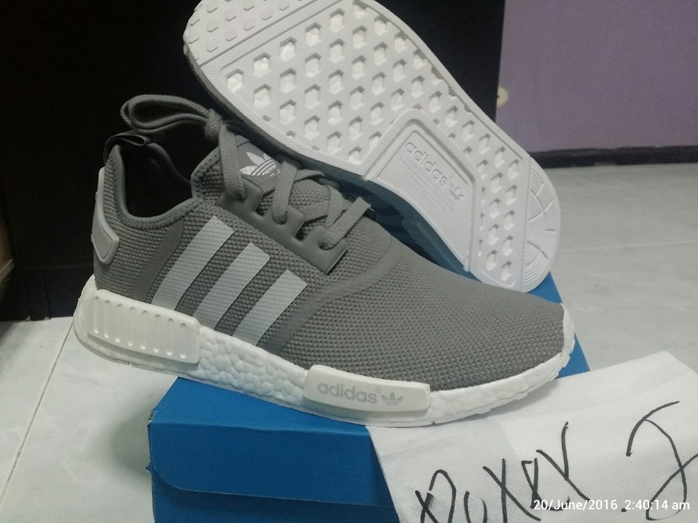 BY8691 Adidas Originals NMD R2 Women Shoes WhiteGrey