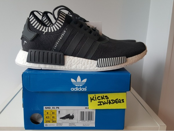 Adidas NMD R1 PK Solid Grey S81849 9US 42 2/3EUR 27CM - photo 1/3