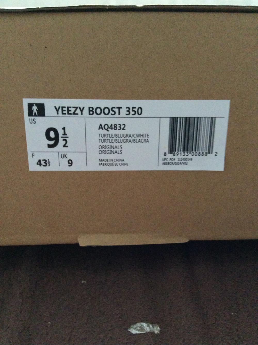 Adidas Yeezy Size