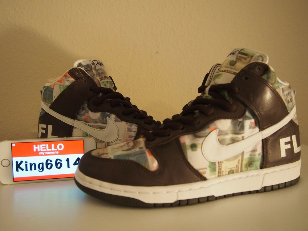 100% authentic 40618 fc80d Nike Dunk HIGH PRO SB FUTURA 2000 FLOM FOR LOVER OR MONEY 1 OF ...