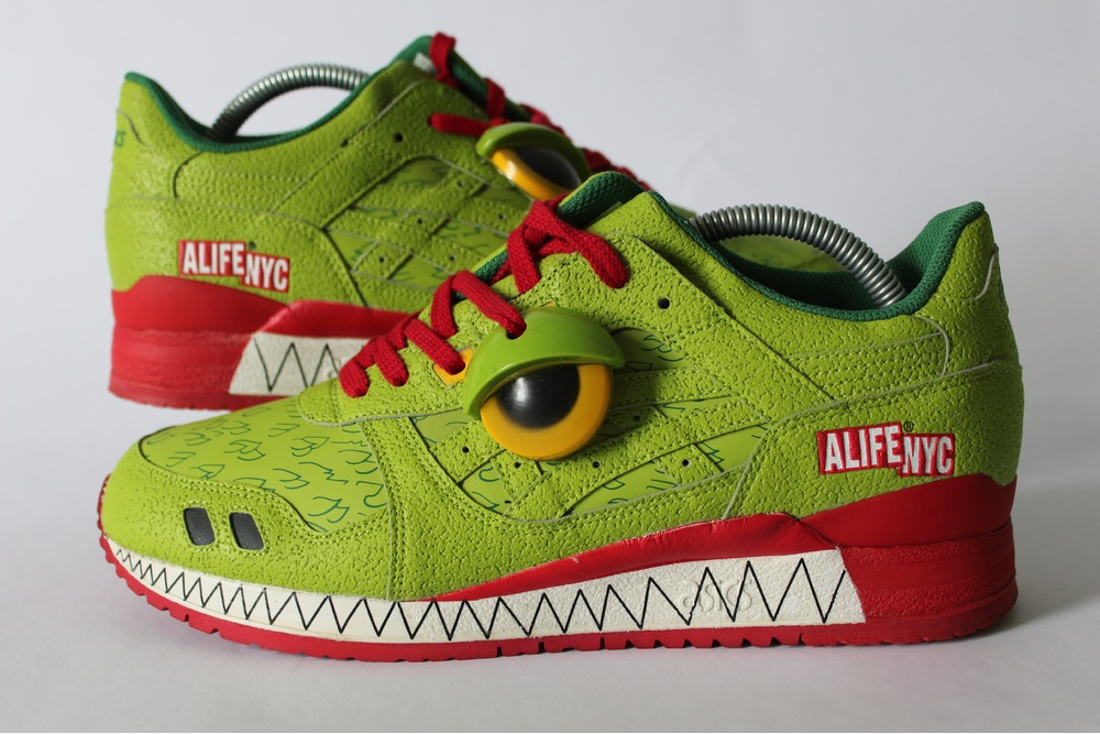 asics gel lyte iii 3 alife green monster