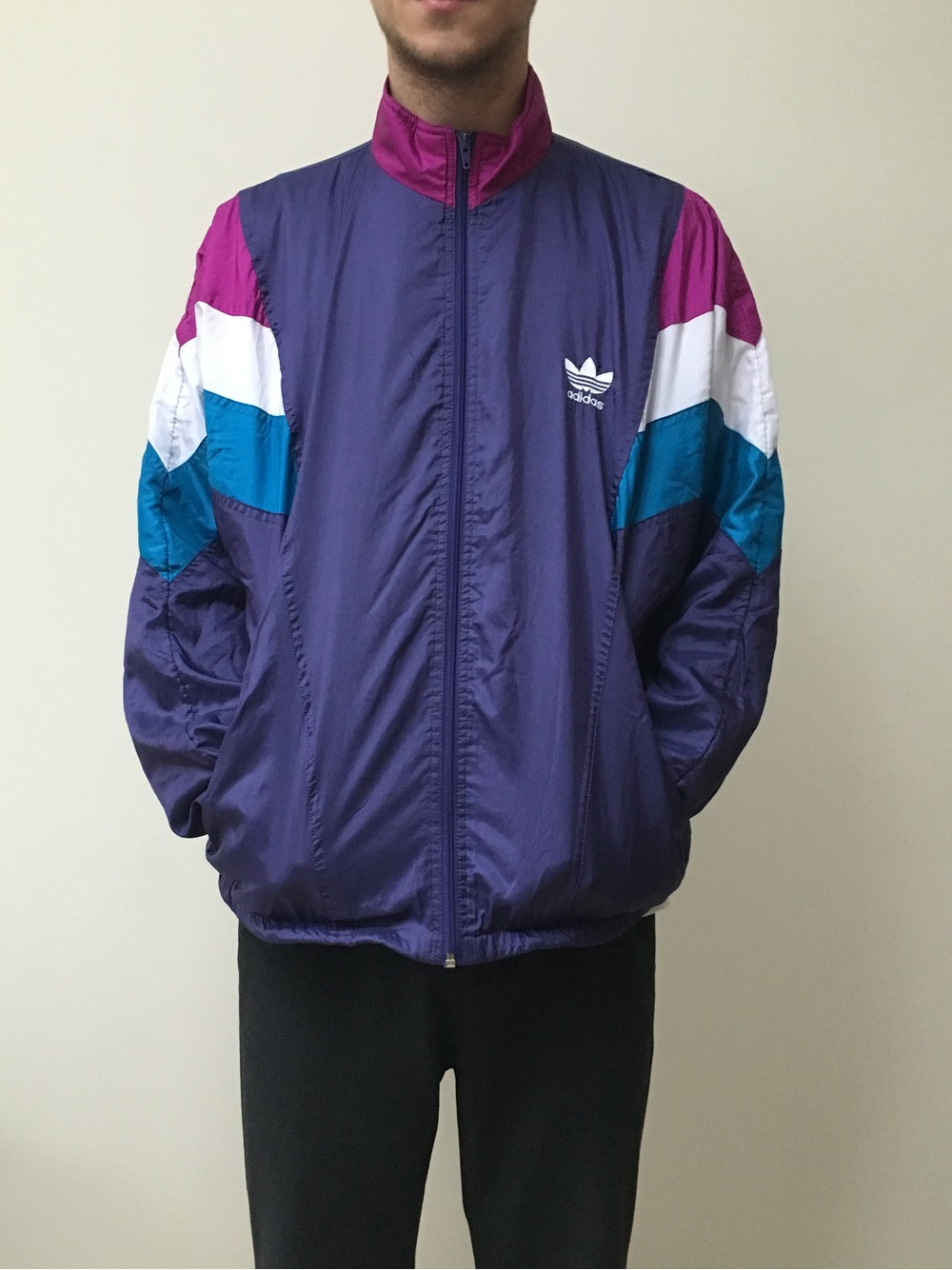 Vintage Adidas Track Jacket Windbreaker 438859 From