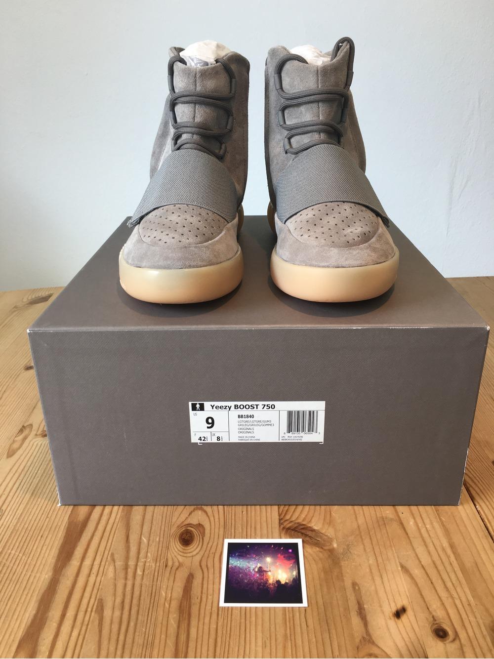 dc178717e72c7 ... Adidas Yeezy 750 Boost Light Grey Gum US 9 deadstock nmd 350 Ultraboost  - photo ...