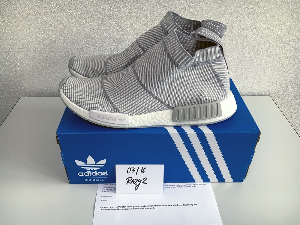 US11 Adidas NMD City Sock CS1 CS-1 Primeknit PK White Silver Solid Grey S32191 - photo 1/9