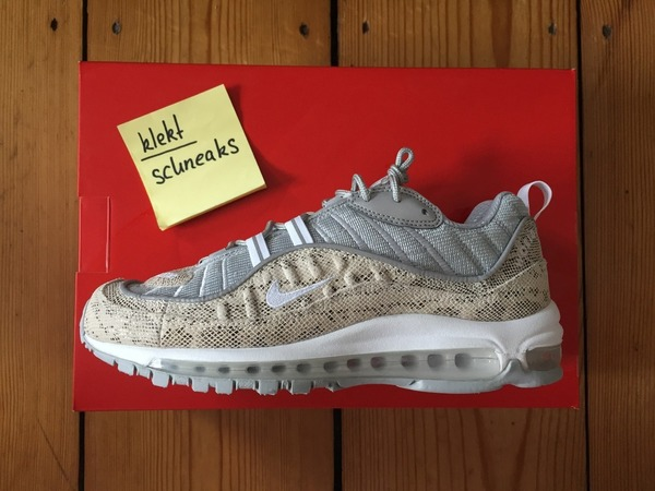 <strong>Nike</strong> <strong>Air</strong> <strong>Max</strong> <strong>98</strong> <strong>X</strong> <strong>Supreme</strong> <strong>Snakeskin</strong> US8 - photo 1/1