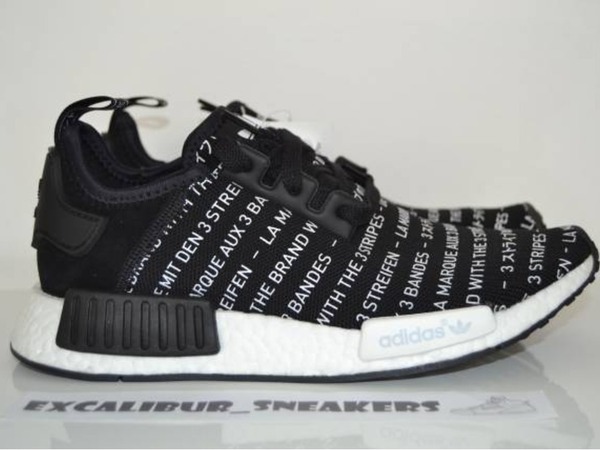 adidas NMD R1 S76519 Primeknit Runner Three Stripes Black - photo 1/8