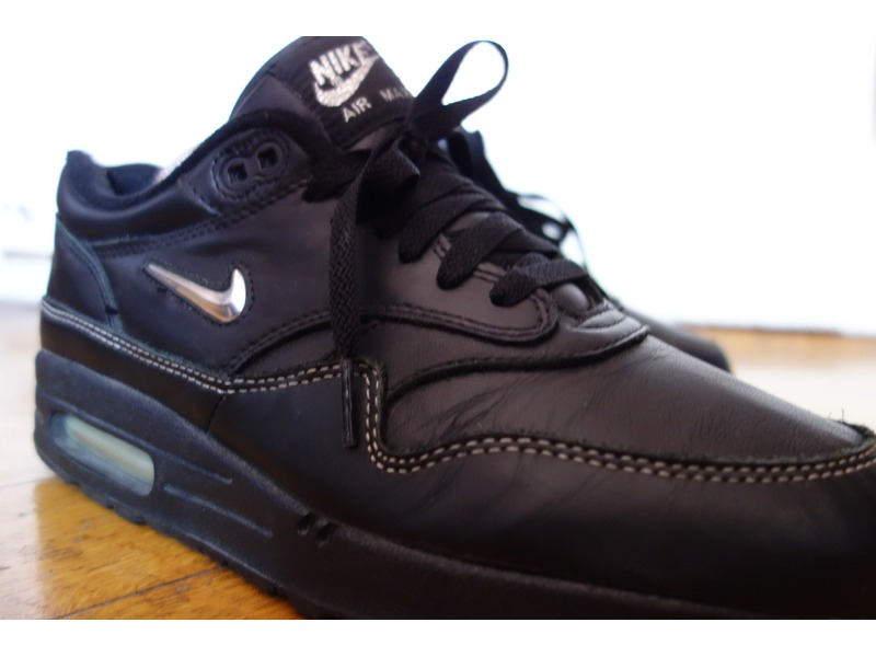 air max 1 jewel black leather (#46680) from Kicksnfix at KLEKT