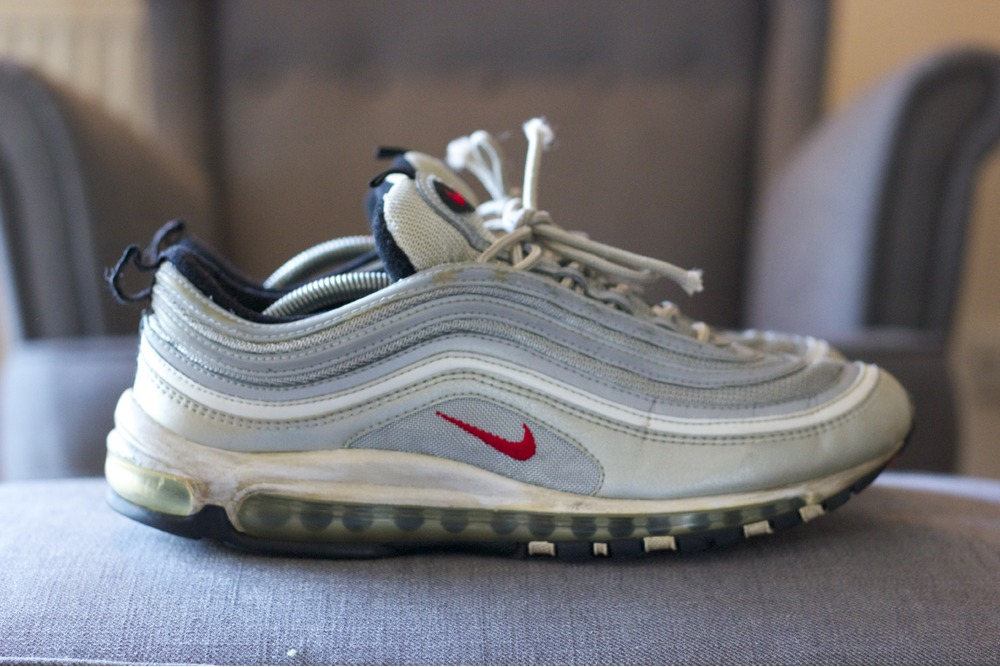 "Cheap Nike Air Max 97 ""Metallic Gold"" Sneakers Magazine"