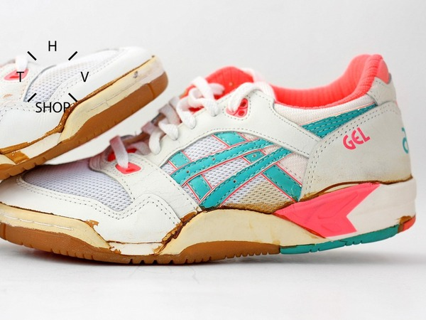 NOS 1991 Vintage Asics GEL Linebreaker shoes sneakers trainers indoor womens DS deadstock OG 90s - photo 1/8