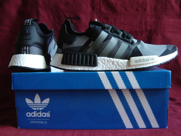 "Adidas NMD_R1 ""Geometric Camo Black / Grey"" Sz44 UK9,5 US10 NMD Runner - photo 1/9"