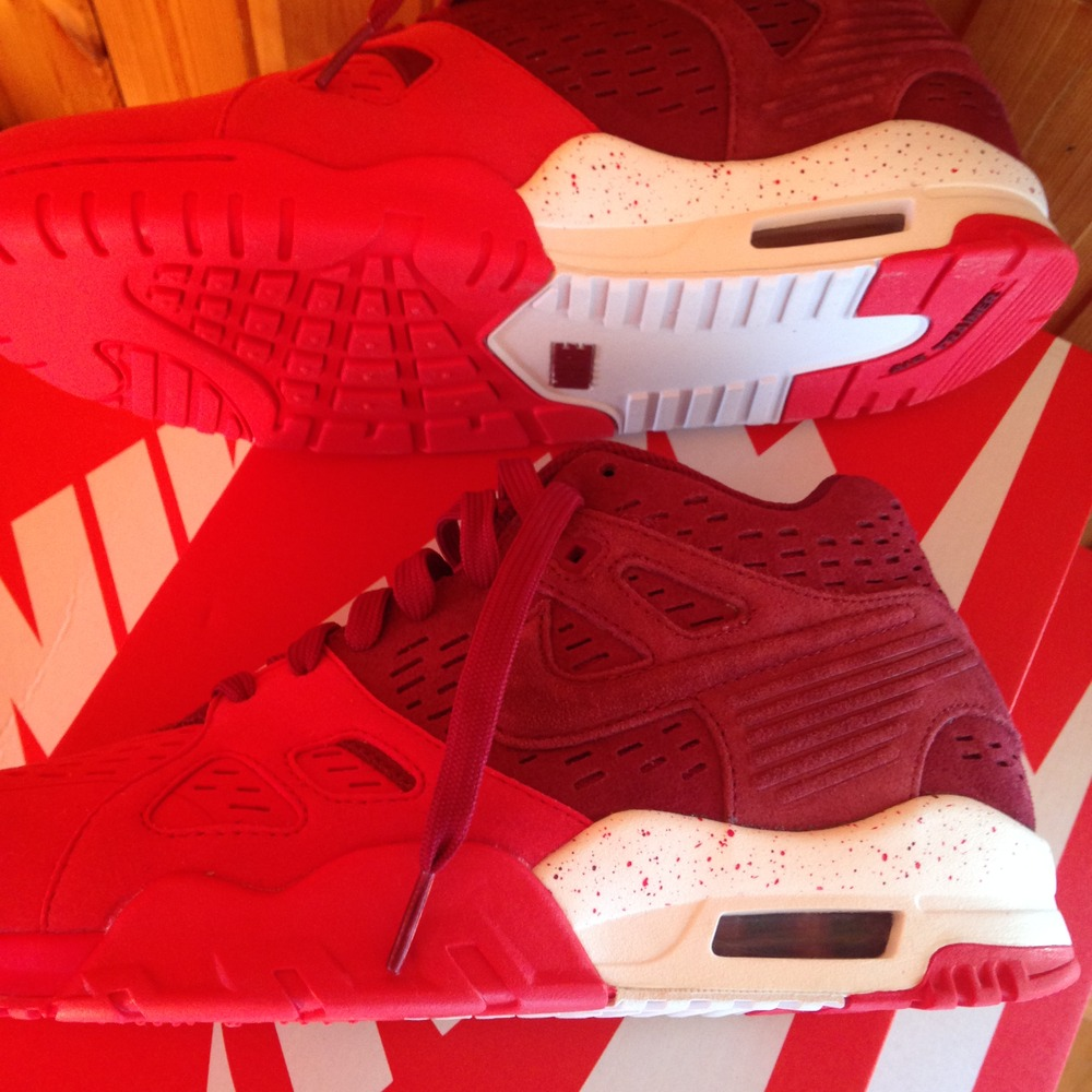 sports shoes a0c92 49626 ... Red Nike Air Trainer 3 Leather Team Red 815758-600 43 ...