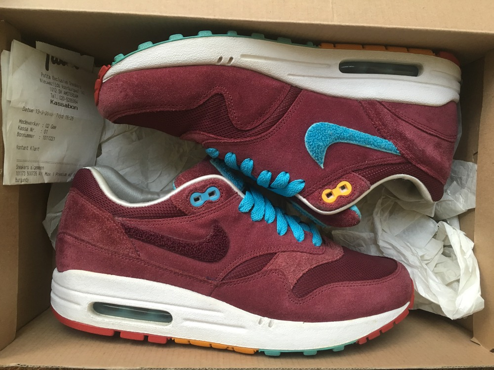 Nike Air Max 1 Parra X Patta Burgundy
