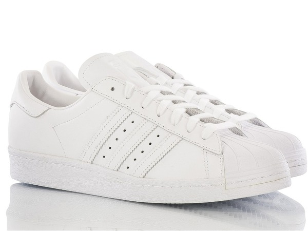 "ADIDAS SUPERSTAR 80S ""TRIPLE WHITE"" S79443 - photo 1/4"