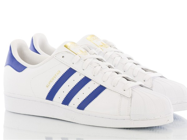 "ADIDAS SUPERSTAR FOUNDATION ""WHITE/COLLEGIATE ROYAL"" B27141 - photo 1/4"
