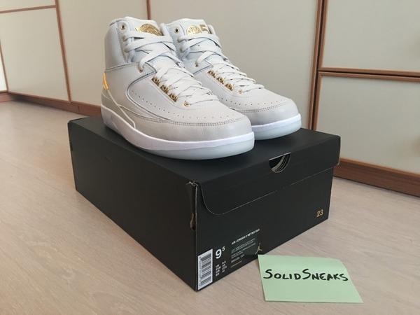 Nike Air Jordan 2 Q54 Quai 54 Gold 866035-001 - photo 1/3