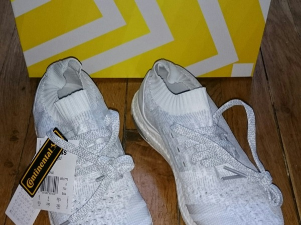 Adidas Ultra Boost Uncaged All White Size 7 Us 6,5 Uk 40 Eu - photo 1/5