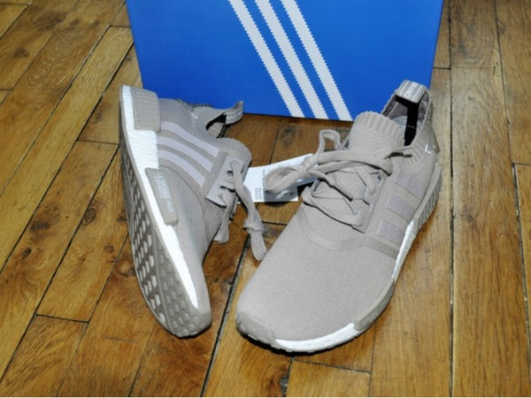 Adidas Nmd R1 PK Primeknit French Beige Vapour Grey Size 8.5 Us 8 Uk 42 Eu - photo 1/7