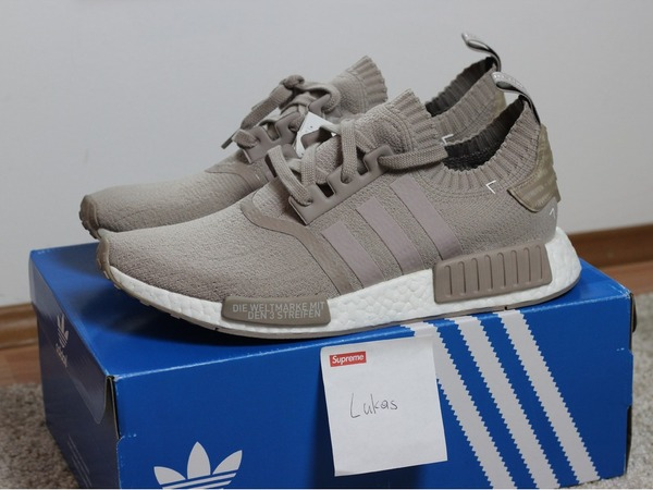 Adidas NMD Primeknit PK French Beige ' Vapour Grey ' US 9.5 DS - photo 1/2