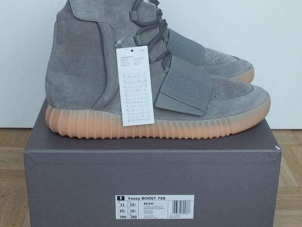 Adidas Yeezy Boost 750 Grey / Gum, US 11 UK 10.5 EU 45.3, NEW, DS - photo 1/9