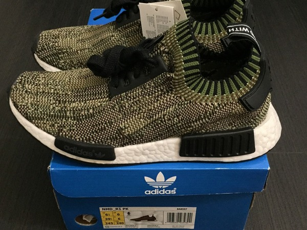 Adidas Boost NMD_R1 PK Olive - photo 1/6