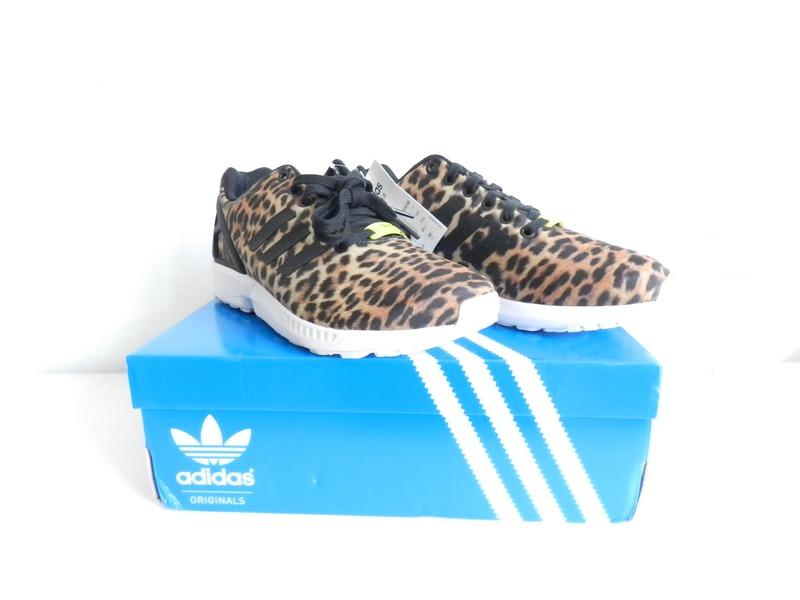 adidas zx flux leopard black