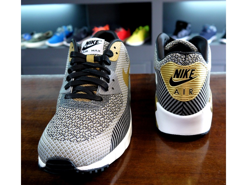 NIKE AIR MAX 90 JACQUARD GOLD TROPHY BRAND NEW DS - photo 2/5