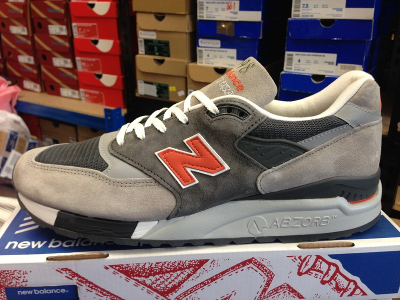 New Balance 998 Grey Orange