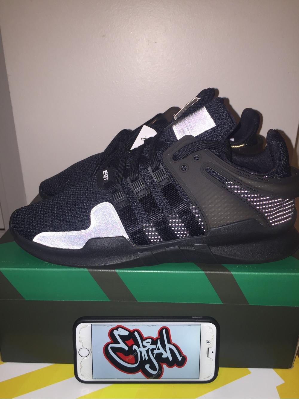 size 40 67c90 8af28 ... low cost adidas eqt adv sz us8.5 black on black reflective first drop  ba8324