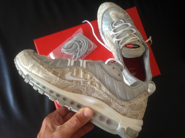<strong>Nike</strong> <strong>Air</strong> <strong>Max</strong> <strong>98</strong> <strong>X</strong> <strong>Supreme</strong> <strong>SnakeSkin</strong> 8us - photo 1/5
