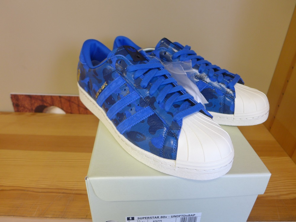 adidas consortium superstar 80v x undftd x bape blau. Black Bedroom Furniture Sets. Home Design Ideas