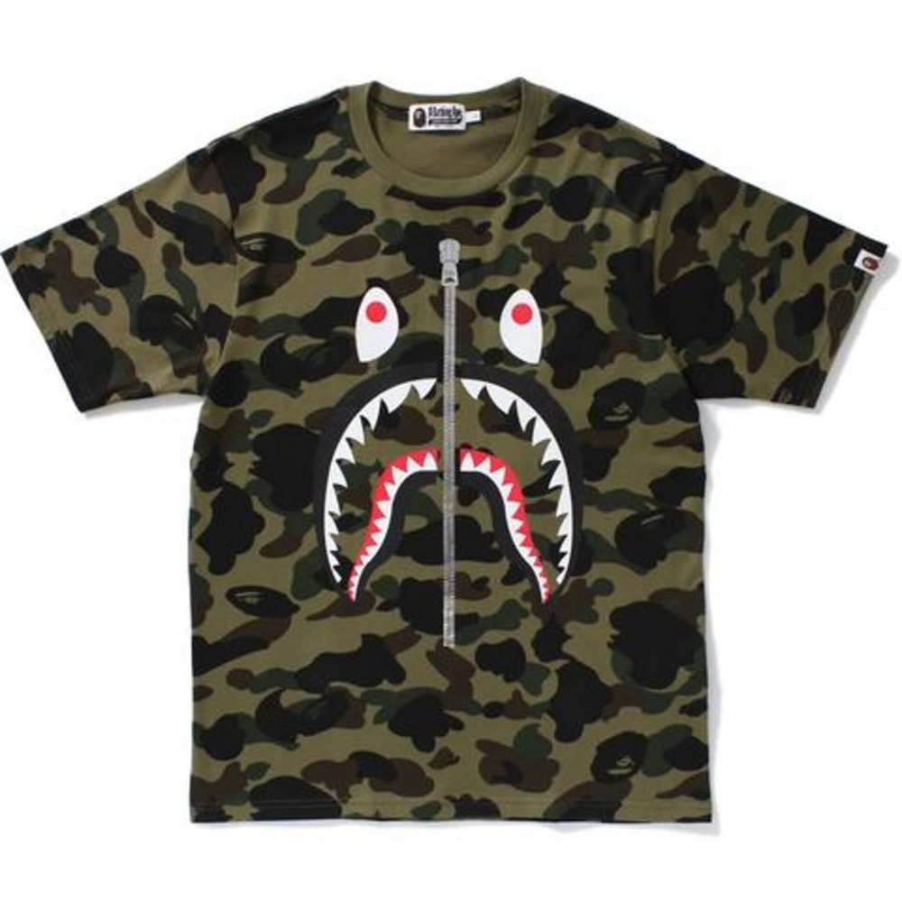 Bape A Bathing Ape 1st Camo Shark Tee New Size L Sold