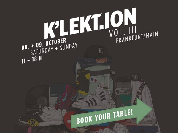 K'LEKT.ION VOL.III 'Sneaker + LifeStyle Convention' - Book Your Private Table here! - photo 1/1